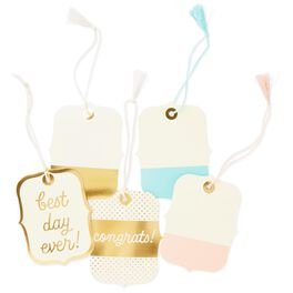 Pastel Tassels Assorted Gift Tags, Pack of 5, , large
