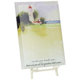 Majestic Lighthouse Glass Plaque, , large