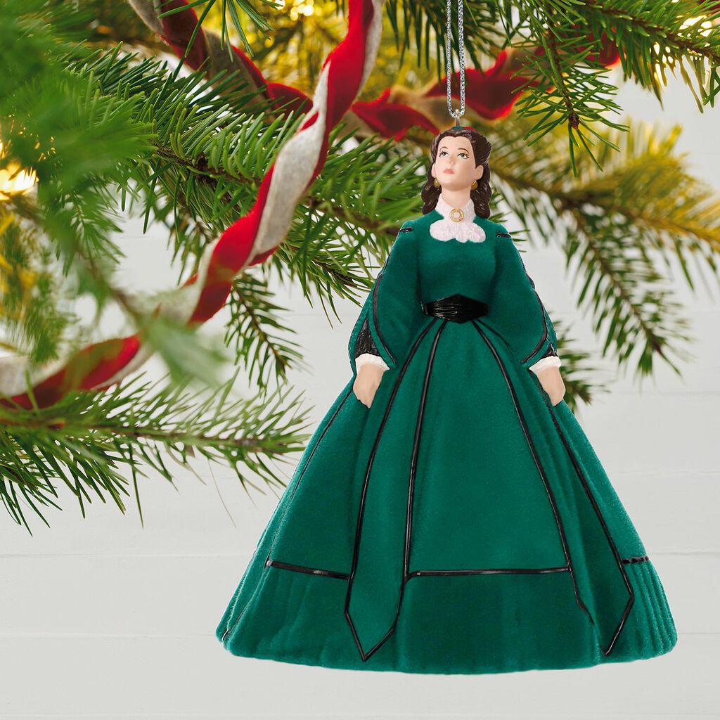 gone with the wind scarlett s christmas dress ornament keepsake