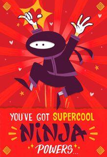 Ninja Powers Valentine's Day Card,