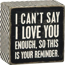 Primitives by Kathy I Love You Box Sign, , large
