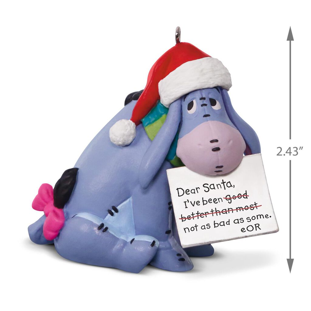 Disney winnie the pooh eeyore a letter to santa ornament keepsake disney winnie the pooh eeyore a letter to santa ornament spiritdancerdesigns Image collections