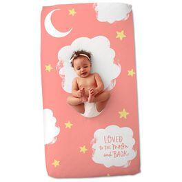 Pink Moon and Stars Crib Sheet, , large
