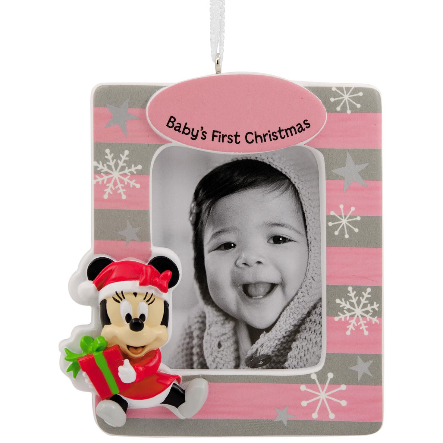 disney minnie mouse babys first christmas diy personalization picture frame hallmark ornament gift ornaments hallmark