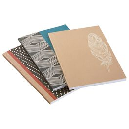 Natural & Authentic 3-Pack Notebooks, , large