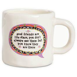 Natural Life Good Friends Are Like Stars Thought Bubble Mug, 12 oz., , large