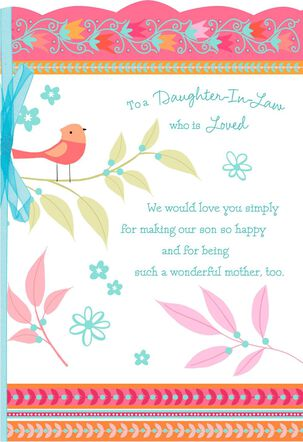 Songbird Mother's Day Card for Daughter-in-Law