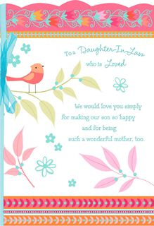 Songbird Mother's Day Card for Daughter-in-Law,