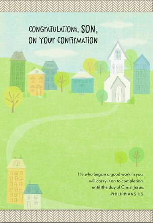 Proud of You Confirmation Card for Son