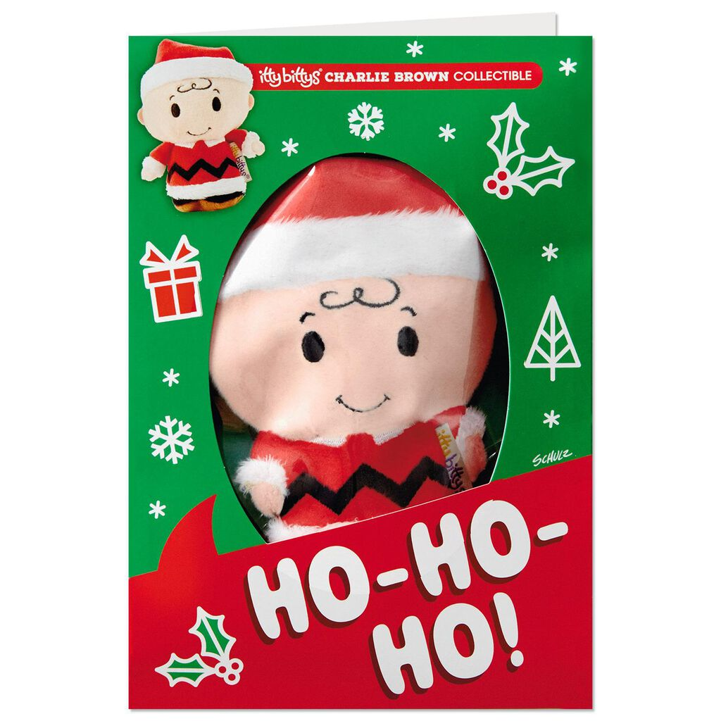 8429e88f3dc0a ... itty bittys® Peanuts® Charlie Brown Christmas Card With Stuffed Animal  ...