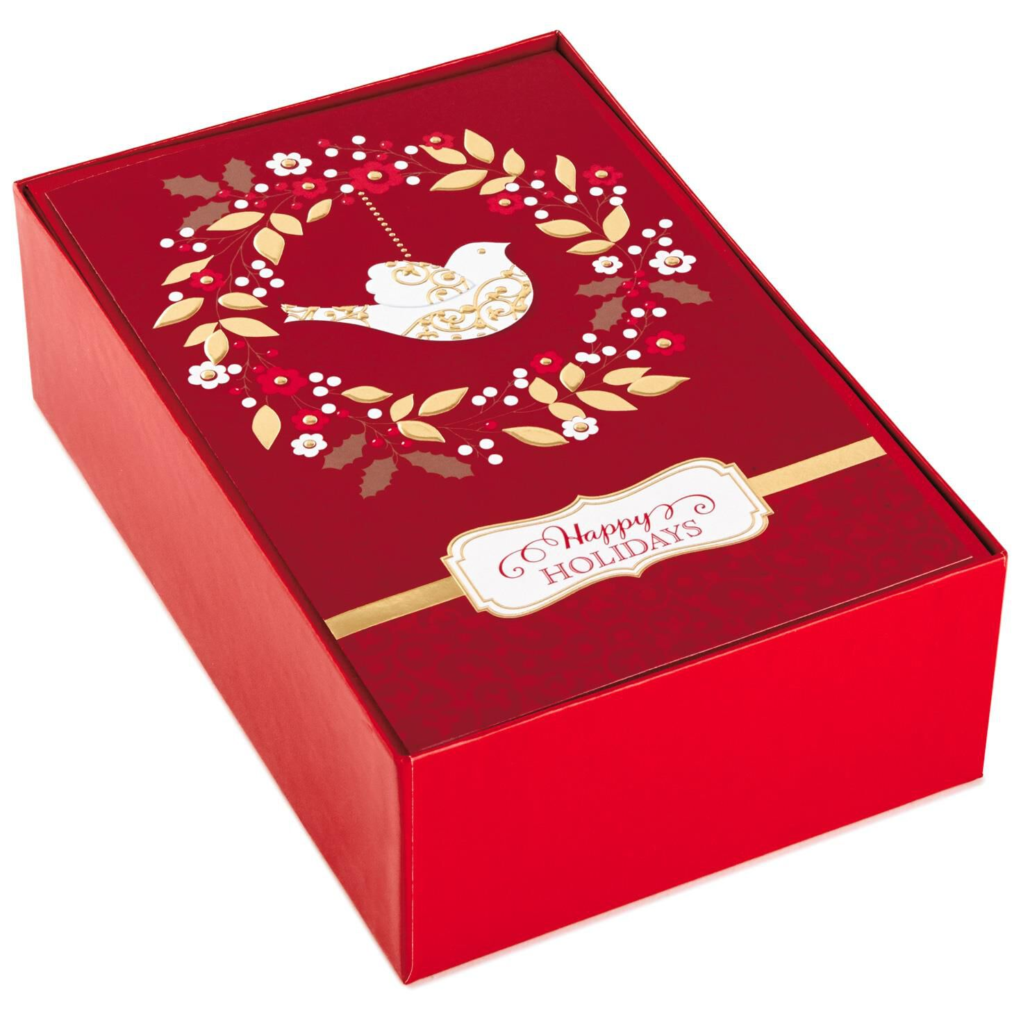 Wreath With Dove Christmas Cards, Box of 40 - Boxed Cards - Hallmark