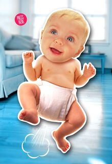 Farting Baby Musical Mother's Day Card,
