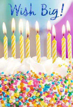 Confetti Cake Wish Big Birthday Card