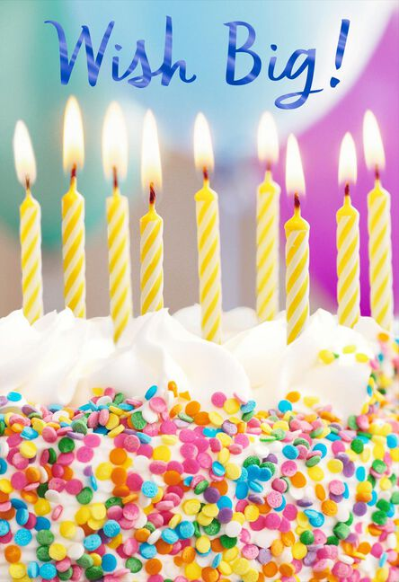 Confetti Cake Wish Big Birthday Card Greeting Cards Hallmark