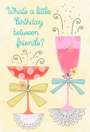 Cocktails to Celebrate Friend Birthday Card
