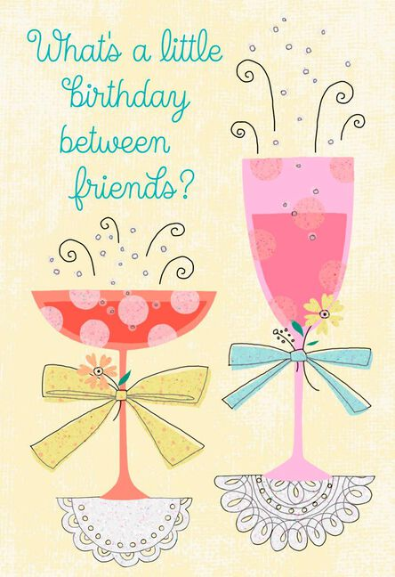 Cocktails To Celebrate Friend Birthday Card Greeting Cards Hallmark
