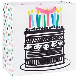 "Cake With Candles, X-Deep Gift Bag, 15"", , large"