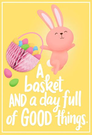 A Basket Full of Good Things Easter Card for Kid