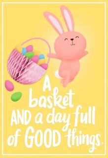 A Basket Full of Good Things Easter Card for Kid,