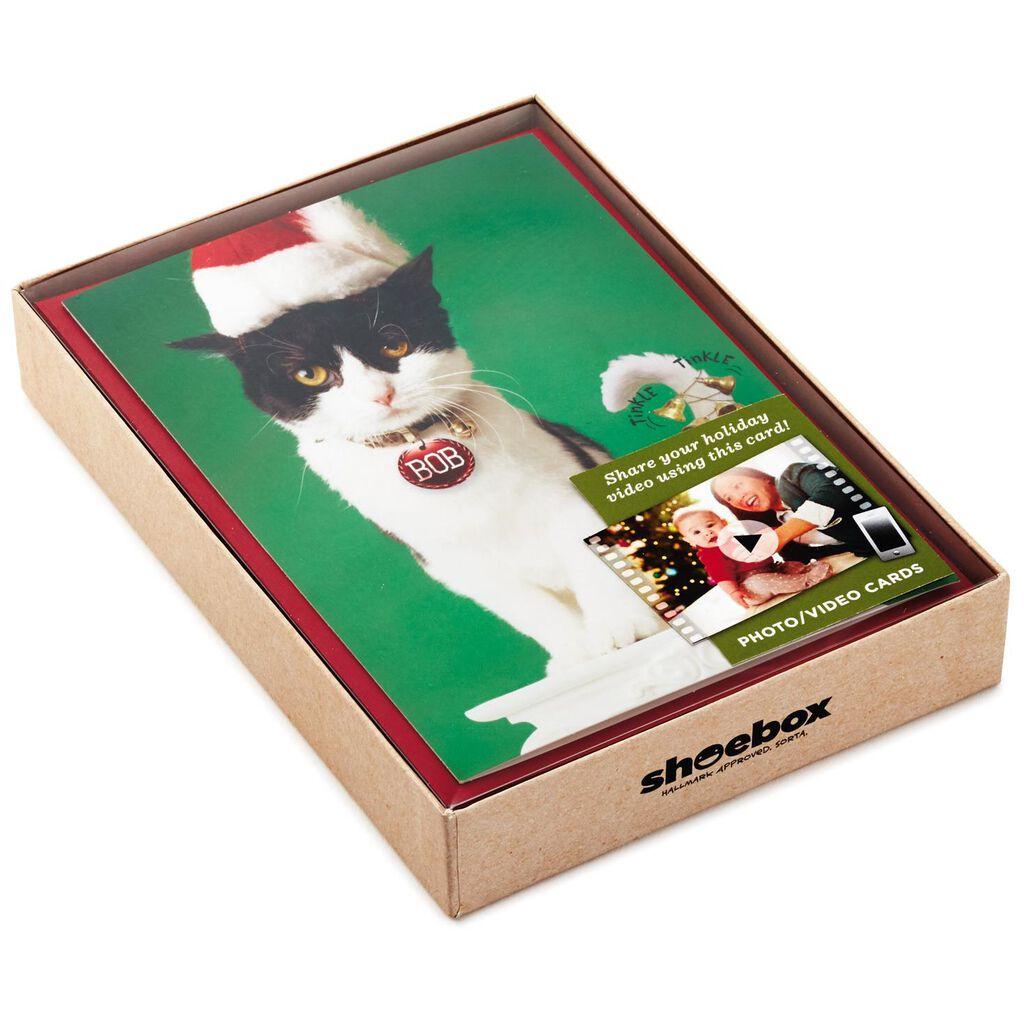 Bob\'s Tail Photo/Video QR Code Personalized Christmas Cards, Box of ...