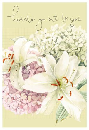 Hearts Go Out to You Marjolein Bastin Sympathy Card