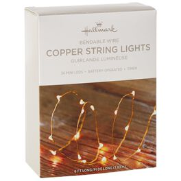 Micro-LED Copper String Lights With Battery, , large