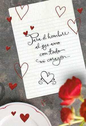 To the Man I Love Romantic Spanish-Language Valentine's Day Card