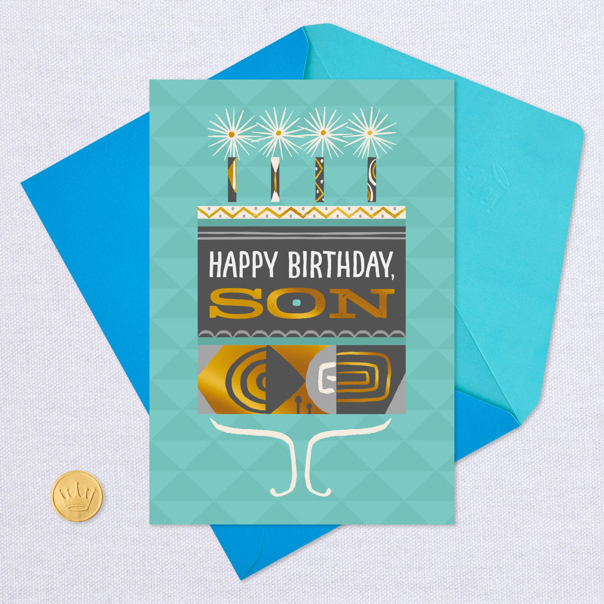 Happy Birthday Son Staying Close No Matter How Far Apart Hallmark Greeting Card
