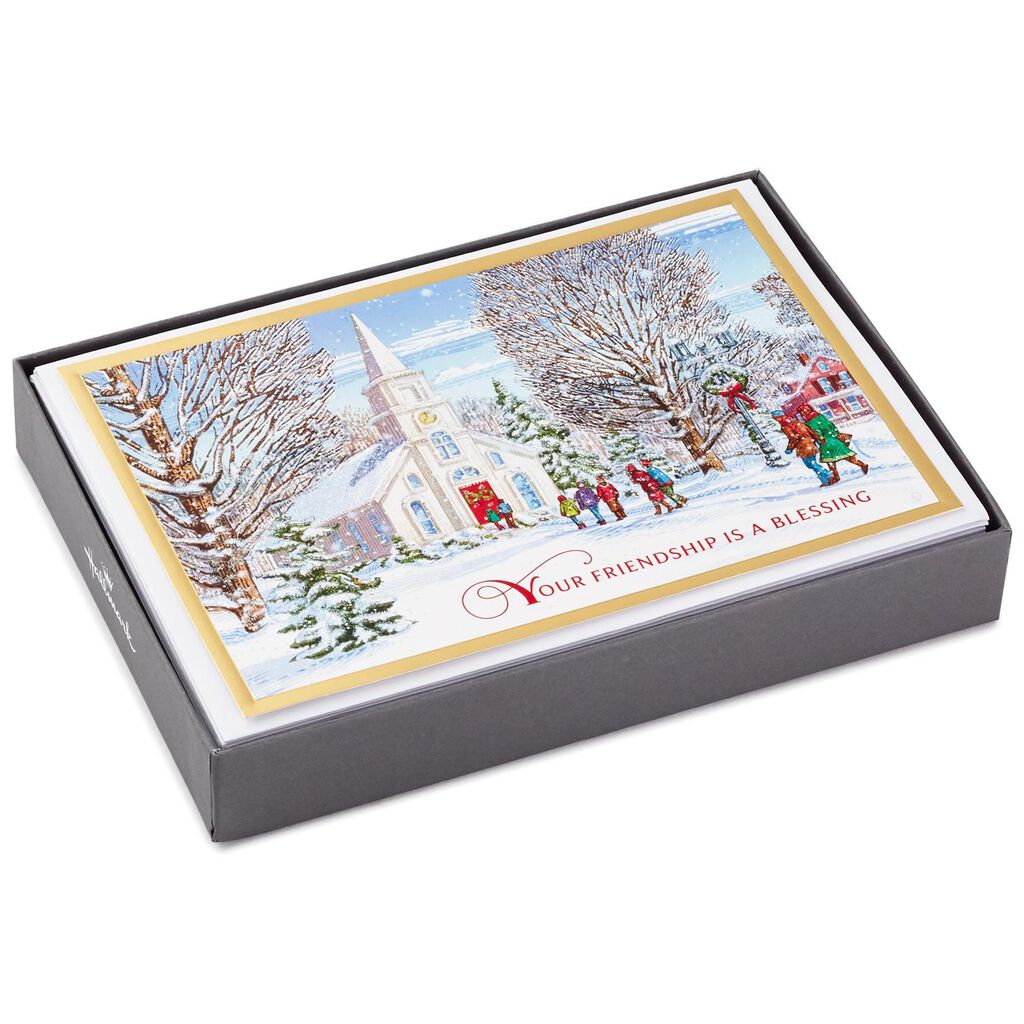 Friendship Is a Blessing Christmas Cards, Box of 16 - Boxed Cards ...