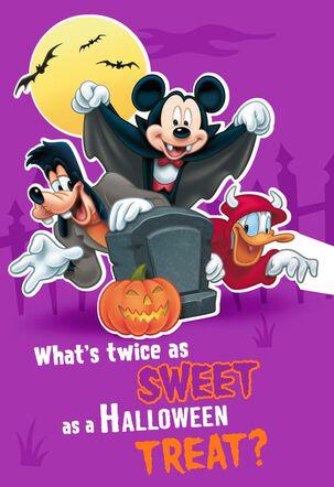 Mickey Mouse Twice As Sweet Halloween Card