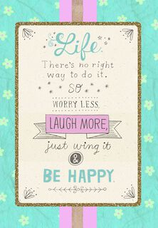 Laugh More Friendship Birthday Card,