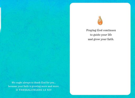 Dove and Flames Confirmation Card,