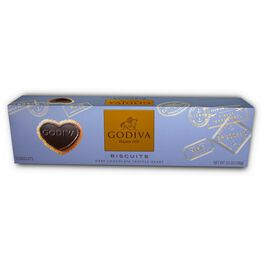 Godiva Chocolatier Dark Chocolate Dipped Biscuits in Gift Box, , large