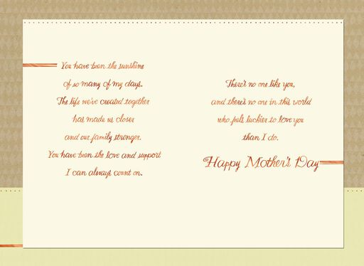 Side by Side Mother's Day Card From Husband,