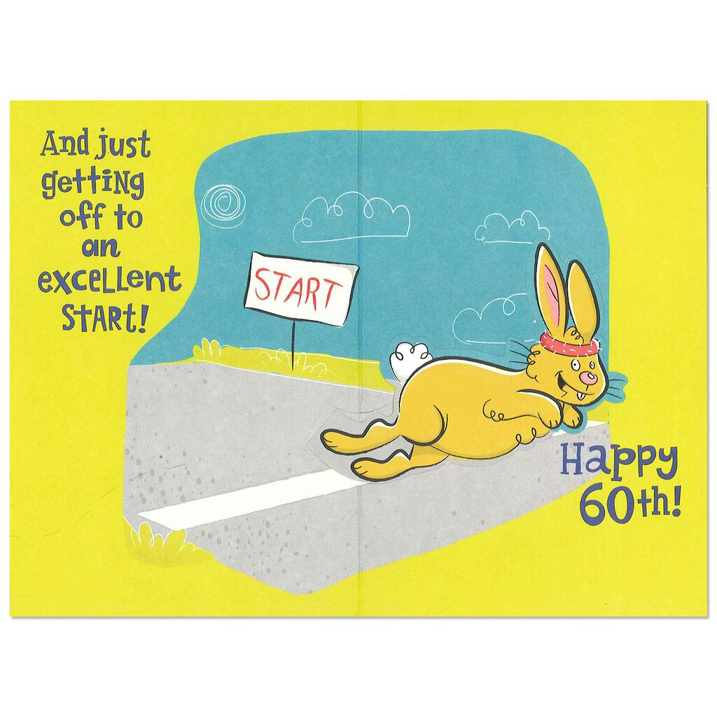 Card Youre Just Getting Started Funny Pop Up 60th Birthday