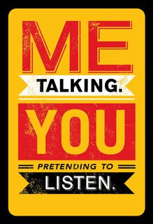 Me Talk, You Listen Funny Anniversary Card,