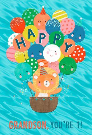 Sweet Explorer 1st Birthday Card For Grandson