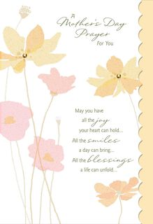 A Prayer for You Religious Mother's Day Card,