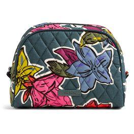 Vera Bradley Medium Zip Cosmetic Bag in Falling Flowers, , large