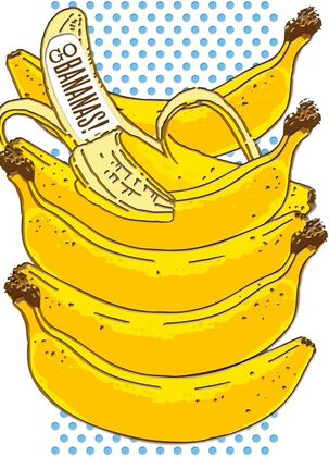 Go Bananas Birthday Card