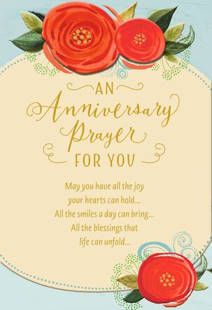 Rose Buds and Blessings Religious Anniversary Card