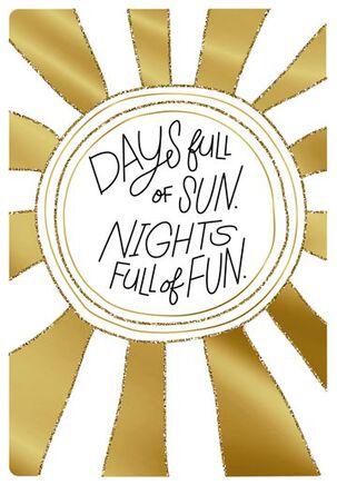 Golden Sun and Fun Birthday Card