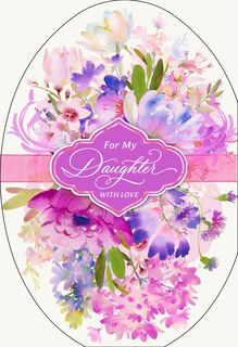 Purple Flowers Easter Card for Daughter,