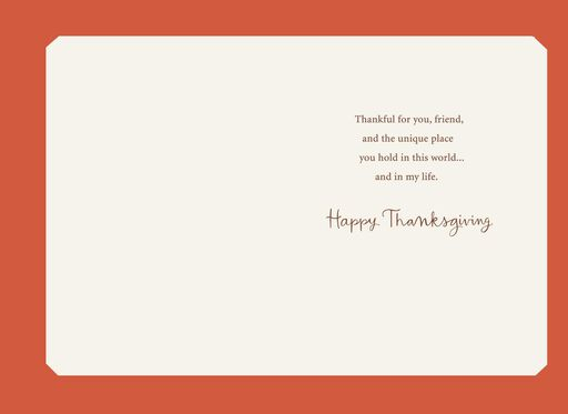 Thankful for You, Friend Thanksgiving Card,