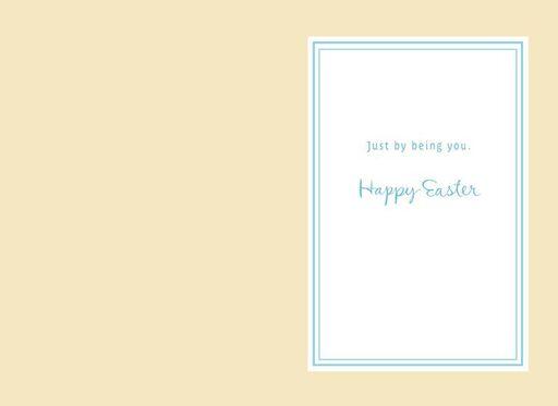 Grandson White Flowers Easter Card,