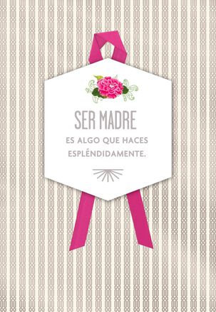 You Mother Magnificently Birthday Card for Mom