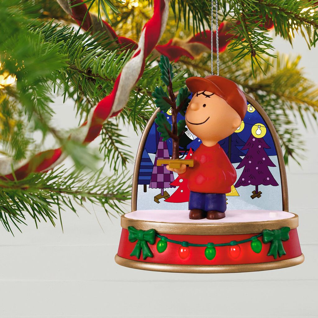 A Charlie Brown Christmas Charlie Brown Ornament With Sound and ...