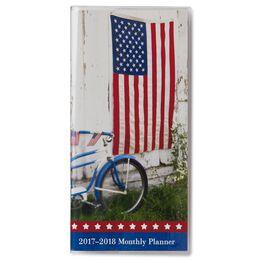 Patriotic 2017-2018 Monthly Pocket Calendar, , large