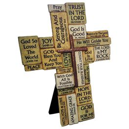 Stacked Stones Bible Verses Cross, , large