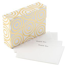 Gold Design Thank You Notes & Caddy, Pack of 24, , large
